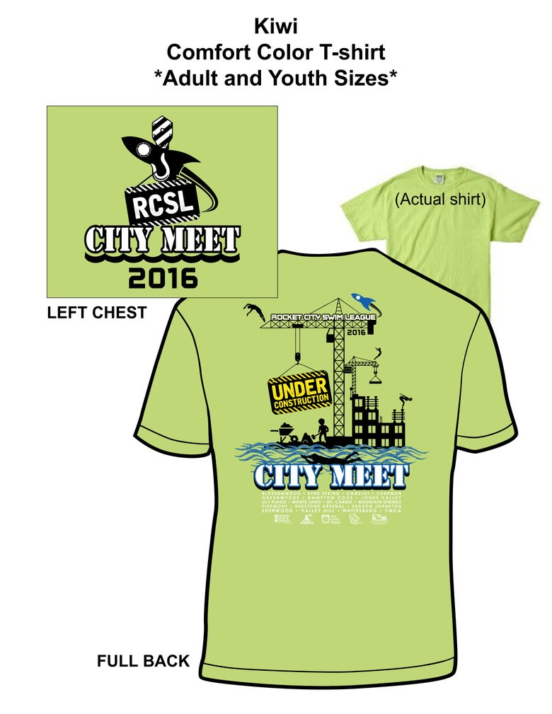 Image of Kiwi Comfort Color T-Shirt Youth/Adult