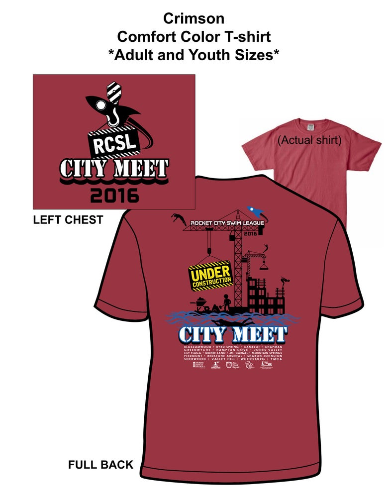 Image of Crimson Comfort Color Youth/Adult Tee