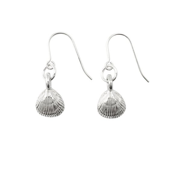 Image of Clam Shell Earrings 3D mini