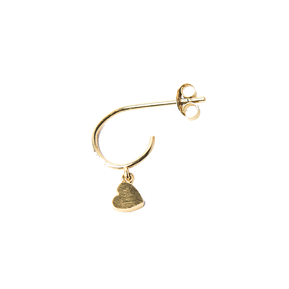 Detalle de Single Broken Heart mini hoop earring