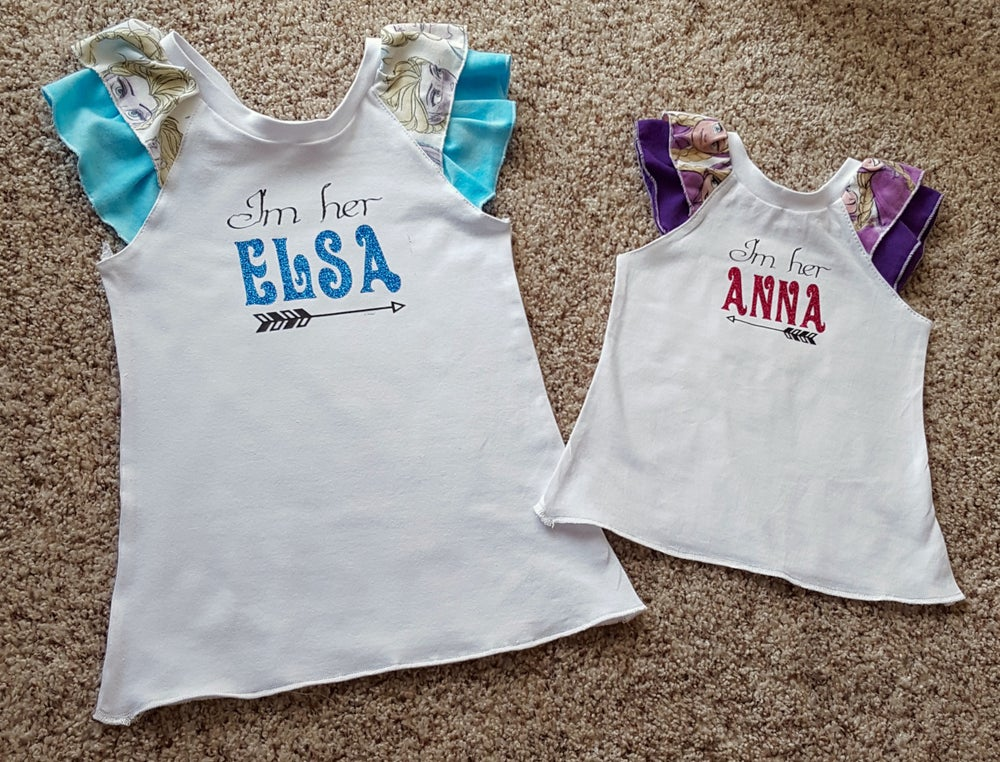 Image of No. 00149 - Frozen Sister Girls' Shirts