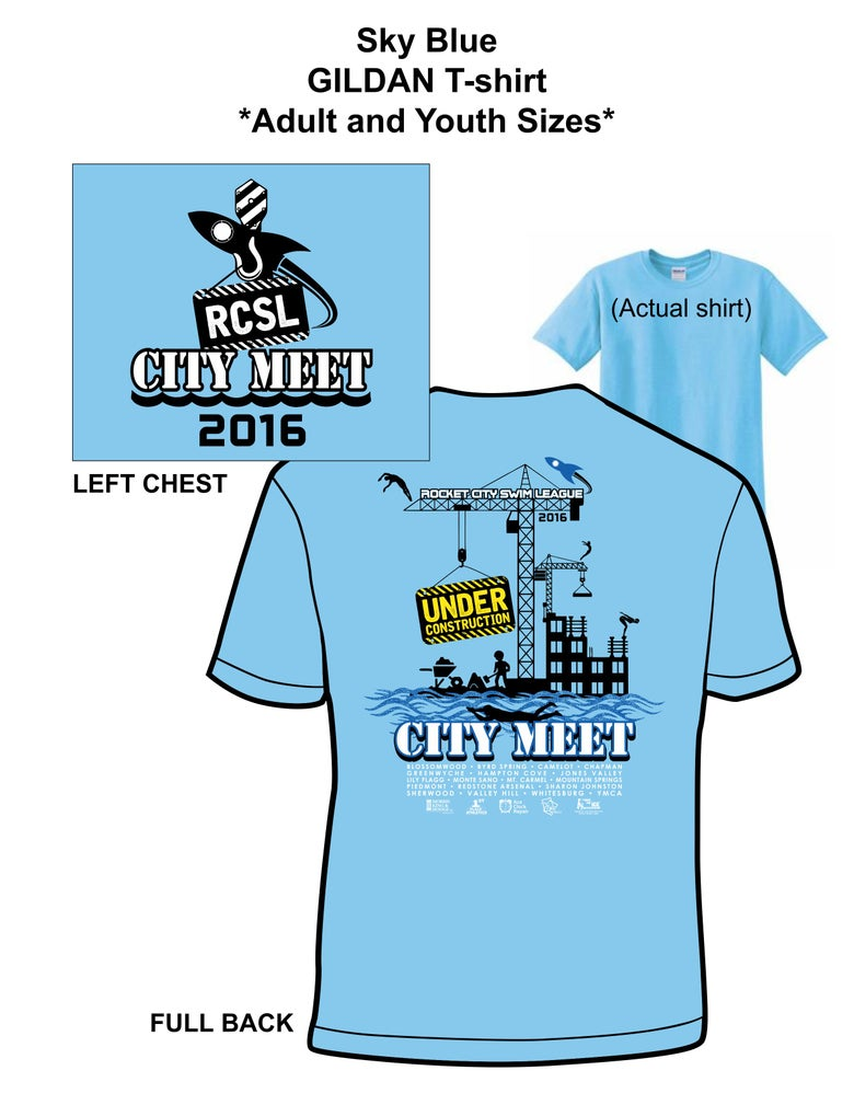Image of Gildan 100% Sky Blue T-Shirt