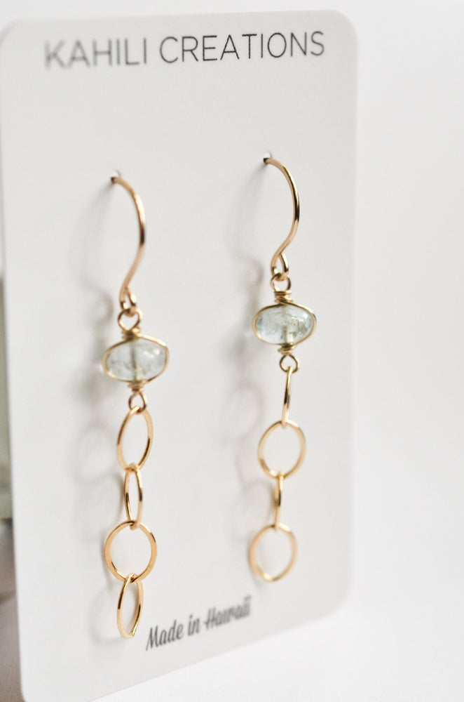 Image of Chain earrings 14kt gold-filled