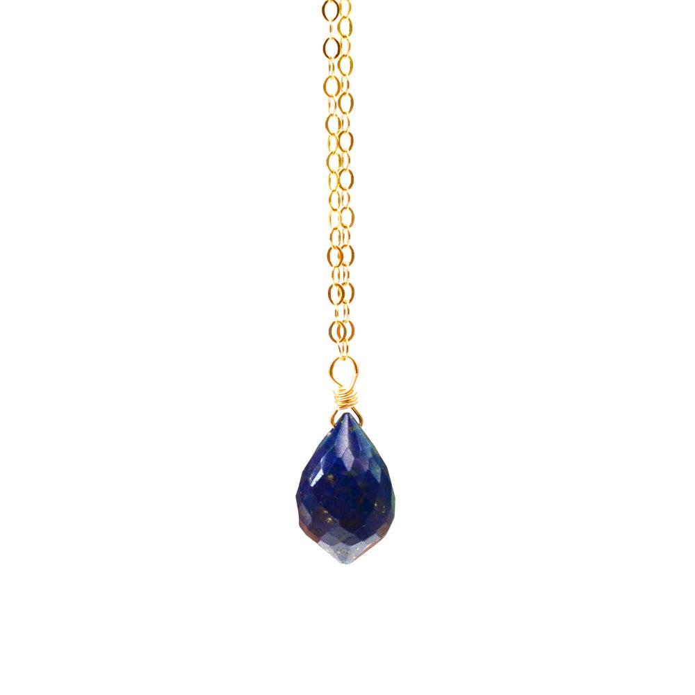 Image of Lapis lazuli solitaire necklace