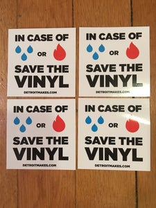 Image of save the vinyl sticker 4 pack