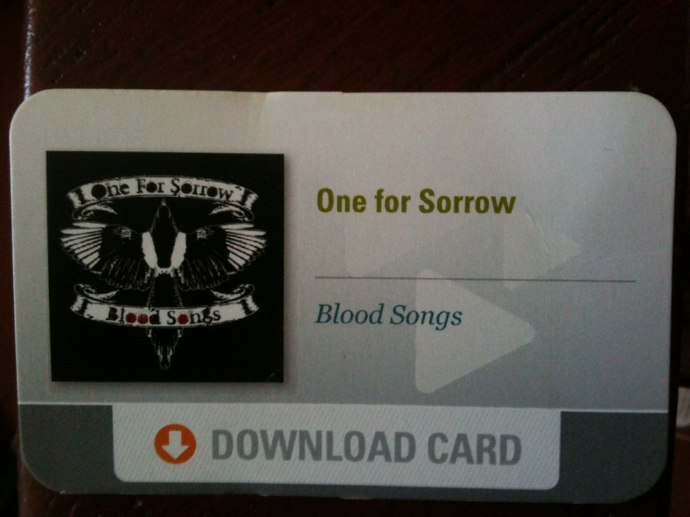 Image of Blood Songs - Direct Download Card