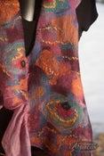 Image of Felted Scarf Nuno Felting Workshop Alpaca Wool Silk Class
