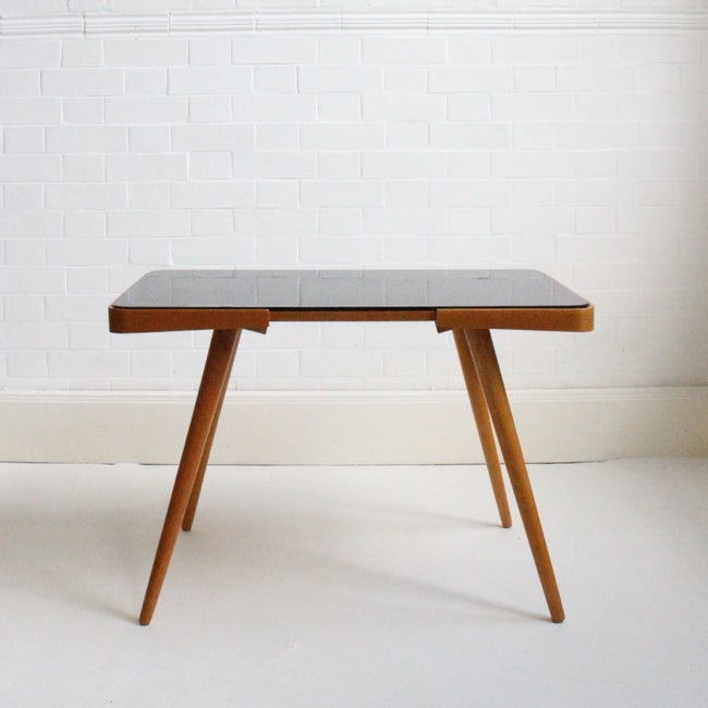 Image of Black glass console / side table