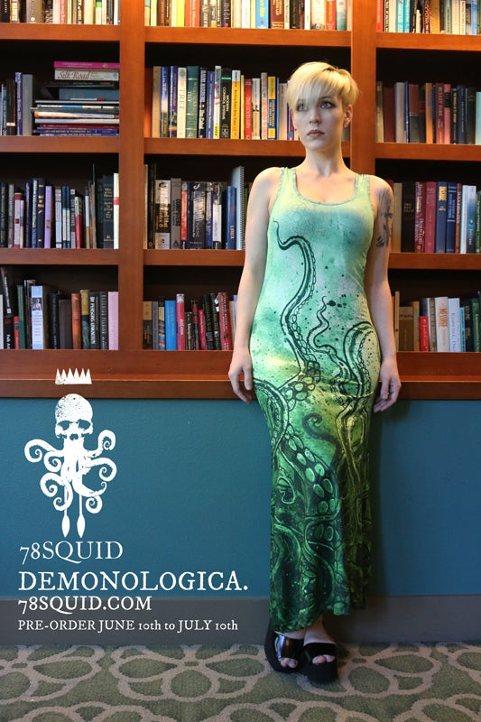 Image of TENTACLE RISING MAXI DRESS