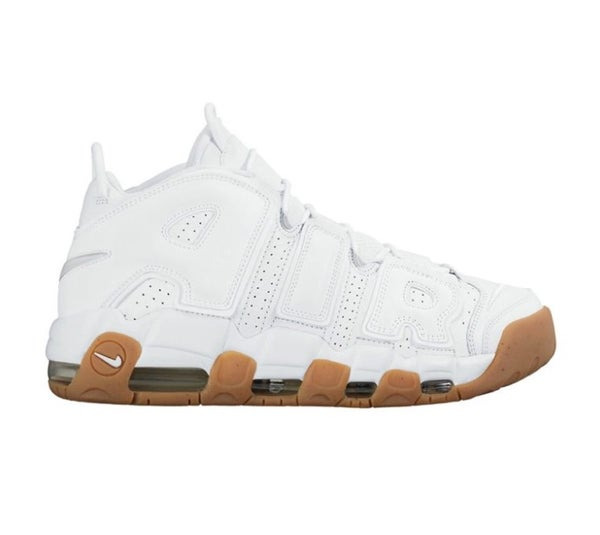 Image of NIKE UPTEMPO WHITE & GUM | MEN