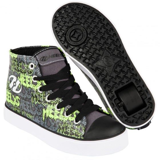 Image of Heelys Hustle Black / Grey / Lime / Graffiti