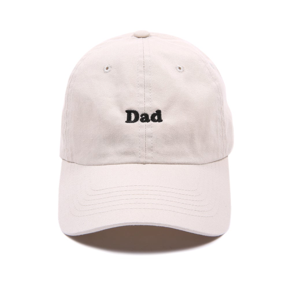 "Image of ""DAD"" Low Profile Sports Cap - Tan"