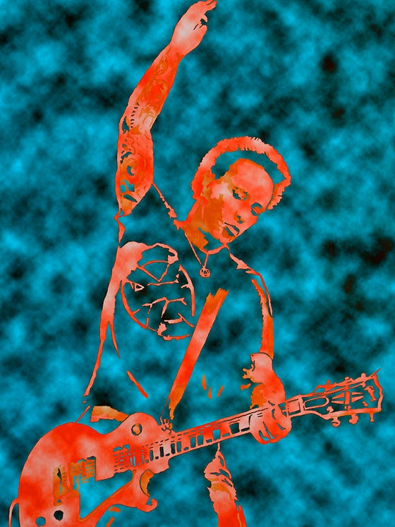"Image of MORRISON LIVE TEAL EDITION 18"" x 24"""