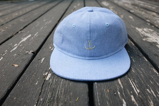 Image of Any Port - Polo Cap Baby Blue Chambray