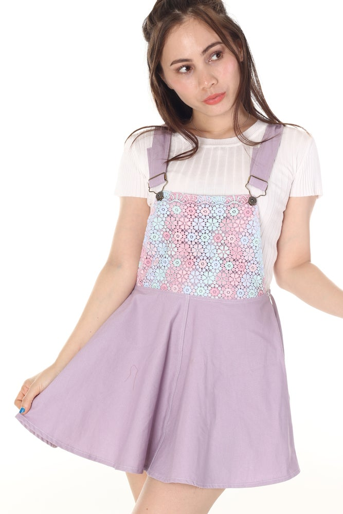 Image of Secret Garden Pinafore in Purple