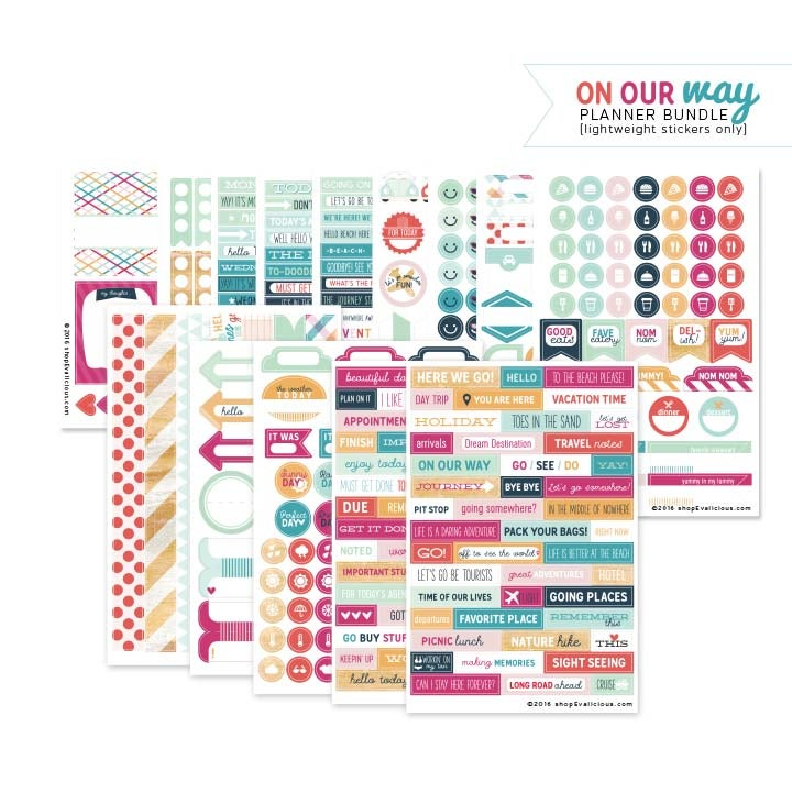 Image of SALE - On Our Way Planner Lightweight Stickers Bundle