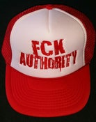 Image of White hat Red bill Red stitch