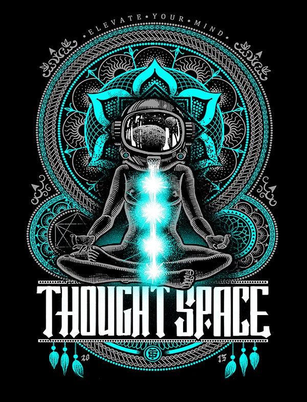 Image of Meditation Teal Print
