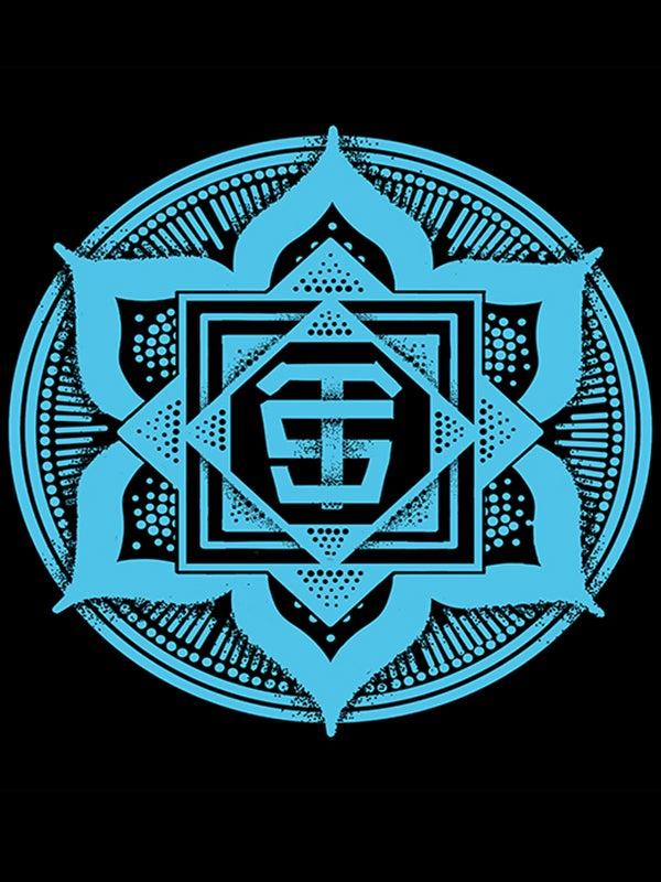 Image of Blue Logo Print