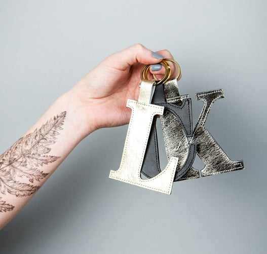 Image of SHOWTIME alphabet letter keyfob