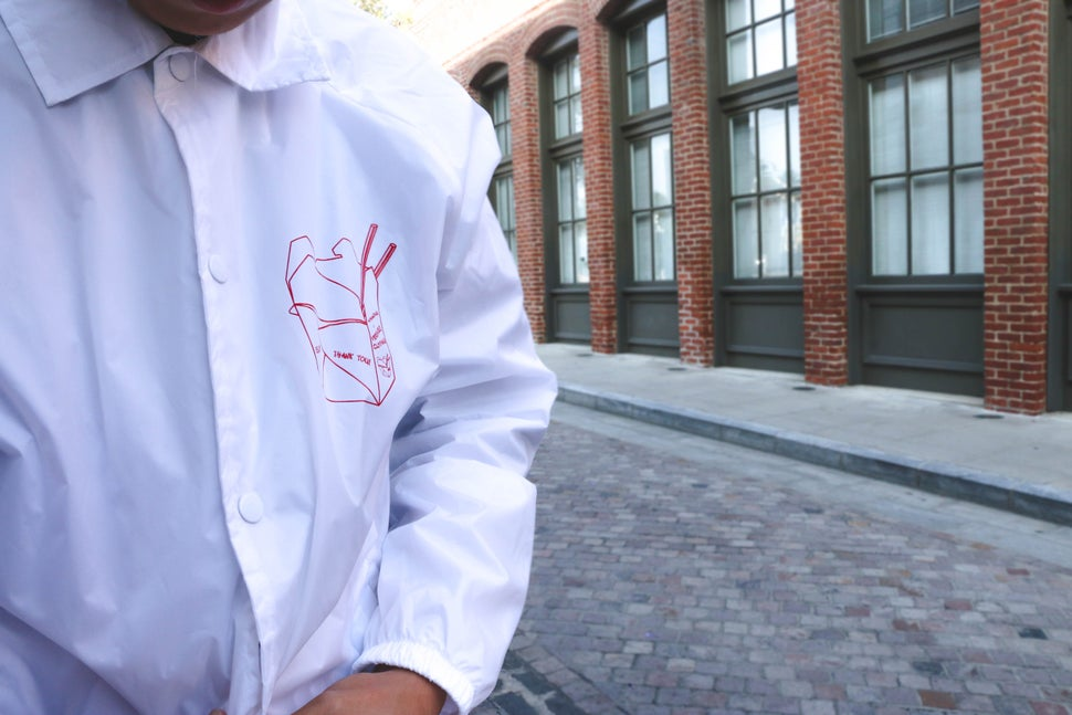 Image of Thank You White Windbreaker