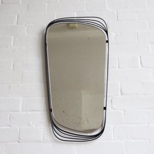 Image of Black midcentury mirror