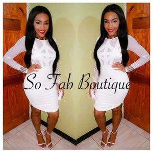 Image of Mesh Nesh Bodycon Dress White