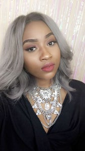 Image of Full Lace Grey Wig 14inches