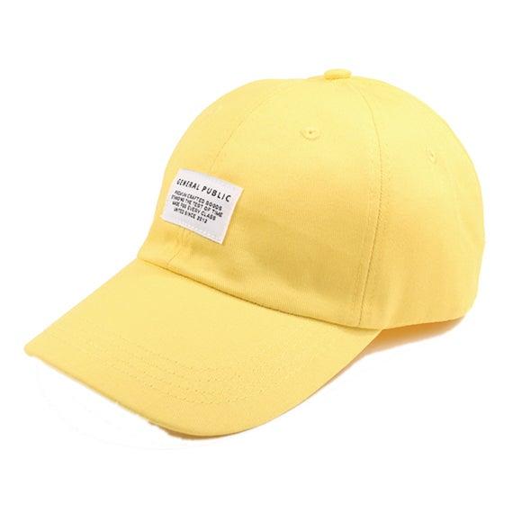 Image of Cotton Chino Baseball Cap (Yellow)