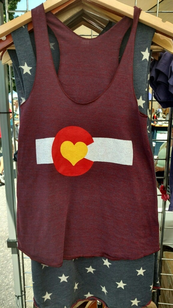 Image of Colorado Love Tank- Cranberry