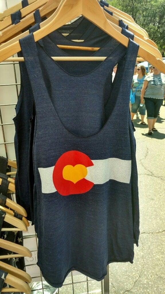 Image of Colorado Love Tank- Women's Indigo