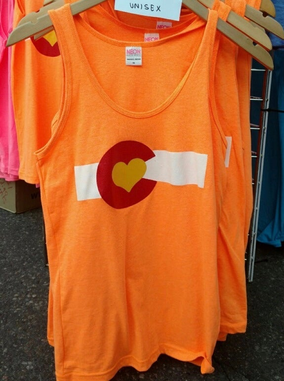 Image of Colorado Love Unisex Tank- Neon Orange