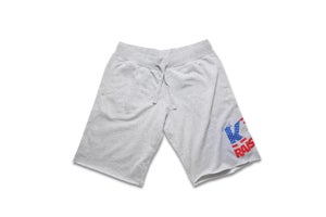 Image of KY Raised USA FLAG Fleece Shorts in Grey, Red & Blue