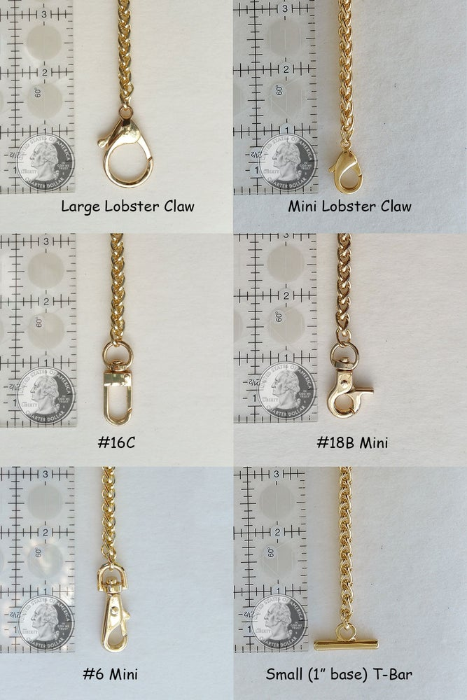 "Image of GOLD Chain Luxury Handbag Strap - Braided Chain - 1/4"" (6mm) Wide - Choose Length & Hooks/Clasps"