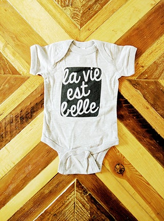 Image of La Vie ) Infant Onesie / T-Shirt