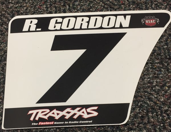 Image of #7 Robby Gordon Number Plate