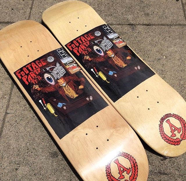 Image of Footage Party/Assault Skateboards collab deck