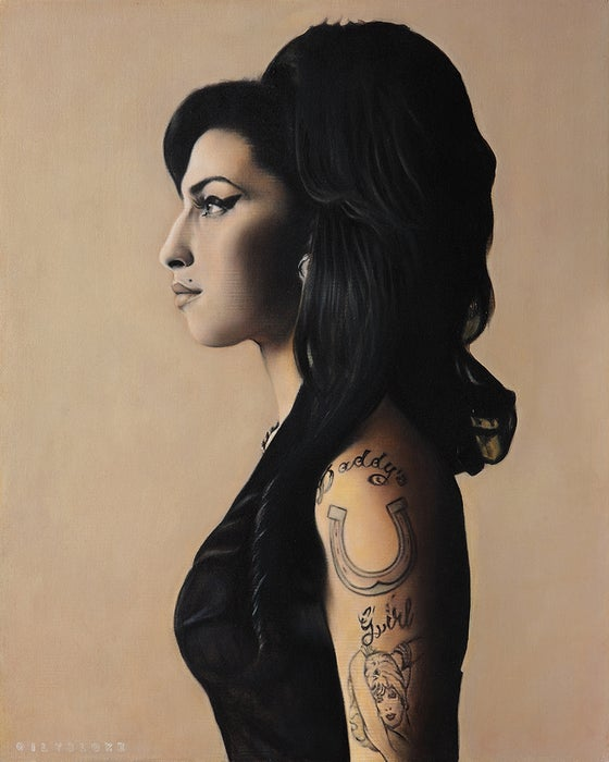 Image of 'Back to Black' limited edition art print by Leigh Hammett