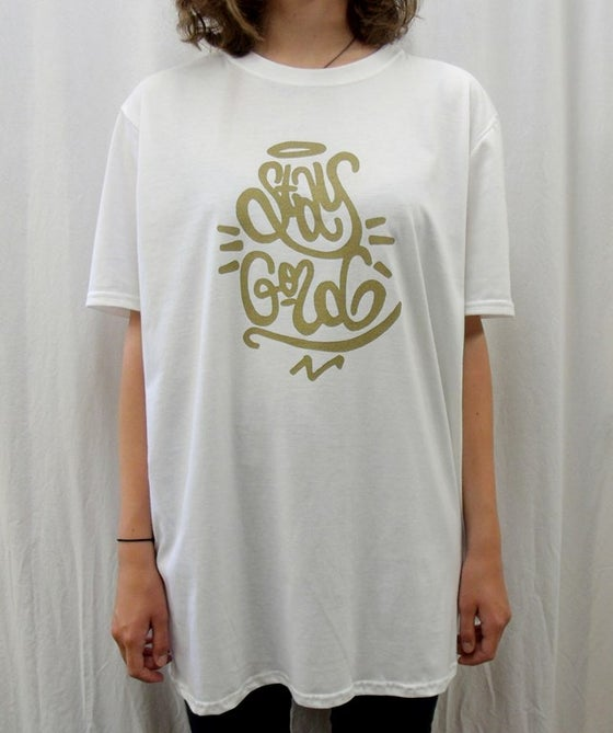 Image of STAY GOLD white t-shirt
