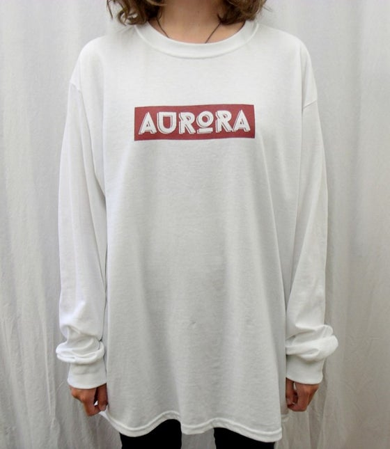 Image of AURORA banner logo long sleeve t-shirt