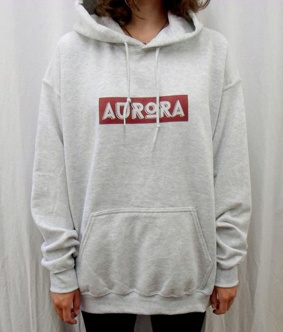 Image of AURORA banner logo hoodie