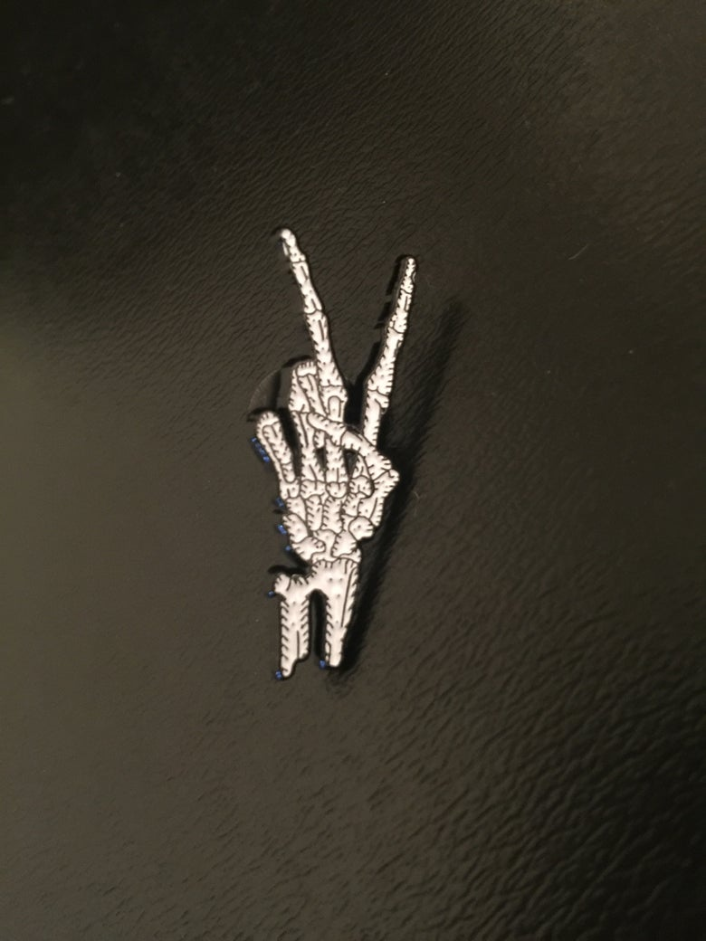 Image of Peace cuz I'm Dead lapel pin.