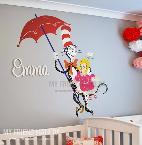 Dr seuss daisy head mayzie wall decal wall sticker home for Daisy head mayzie coloring pages