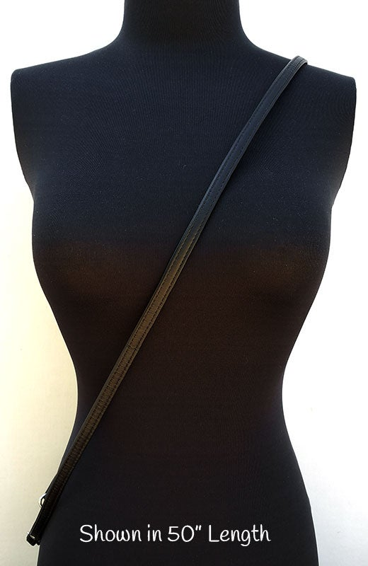 "Image of Extra Petite Leather Strap - 0.375"" (3/8in) Wide - GOLD or NICKEL #14B Clasp - Choose Length & Color"