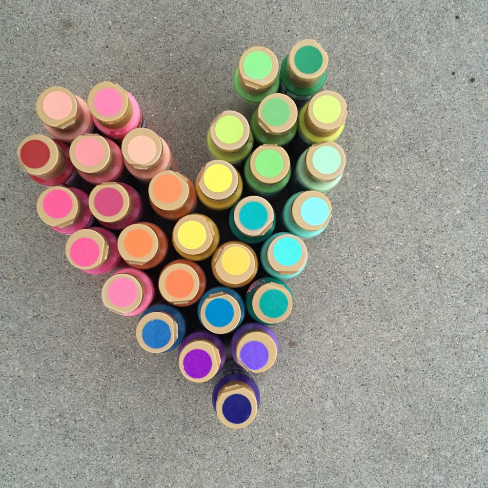 Image of Painted Heart Canvas