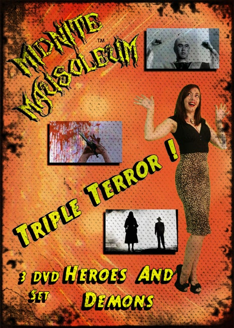 "Image of Midnite Mausoleum Triple Terror 2015 ""Heroes & Demons"" DVD set"