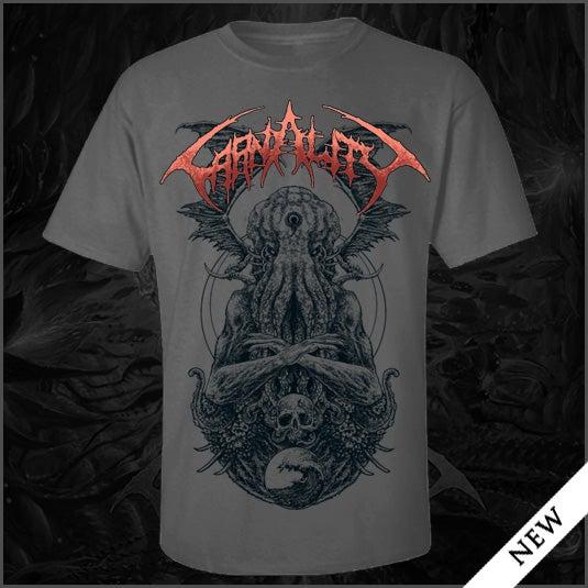 "Image of Carnality ""Cthulhu"" Grey T Shirt"