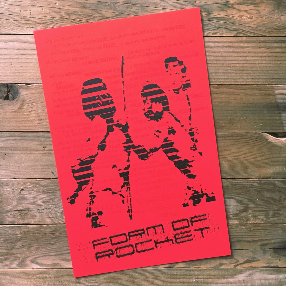Image of Limited Edition Form of Rocket Letterpress Print