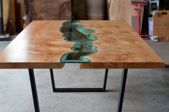 Image of burled river dining table