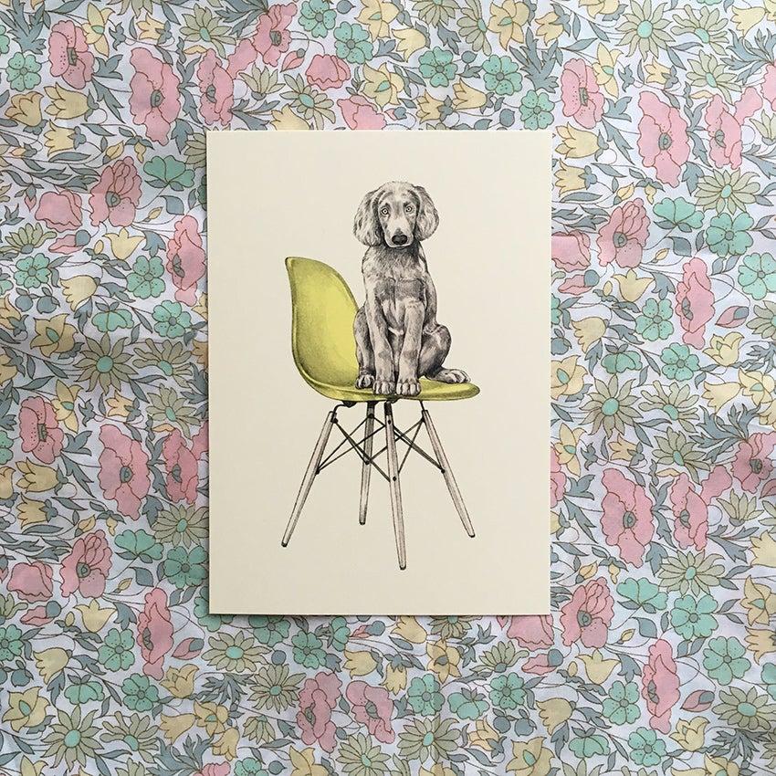 Image of Carte postale simple Chien-Eames